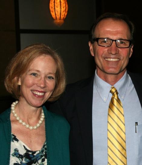 Cindy Bulik and Steve Wonderlich emcee the event