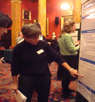 Dr Brownley at the Poster session
