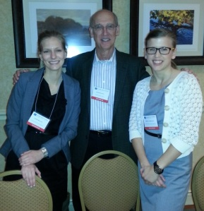 From left to right: Jennifer Belus, Dr. Don Baucom, and Melanie Fischer