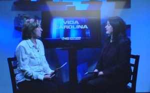Irene C. Gonzalez, Vida Carolina's host, on the left. Dr. Mae Lynn Reyes-Rodriguez, PAS Project's PI, on the right.